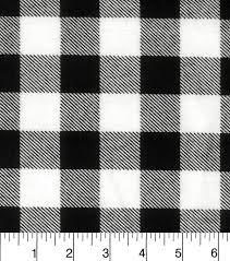 snuggle flannel fabric 42 black white buffalo check joann