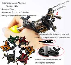 10 wrap coils aluminium alloy shader tattoo machine blue 006f tmart