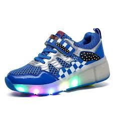 roller skates with flashing lights amazon com vilocy unisex children led light up shoes roller skate