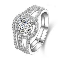 aliexpress buy 2ct brilliant simulate diamond men 2 ct gold 18k brilliant style two rings combine ashine lovely