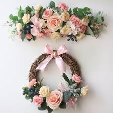 wedding flowers background artificial flowers silk eucalyptus berries door lintel flower