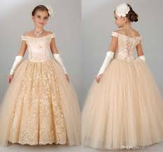 pageant dresses for girls teens off shoulder appliques lace