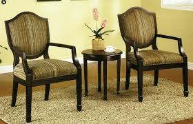 accent table and chairs set amazon com 3 pc set of 2 accent chairs table living room