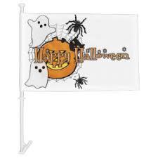 halloween car window flags zazzle