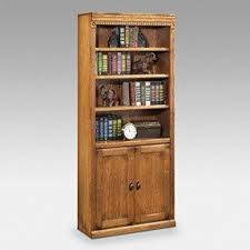 Wooden Bookcase With Doors Solid Wood Bookcases Visualizeus