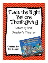 the before thanksgiving readers theater and literacy unit