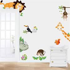 home decor dropship wall stickers jungle animal kids baby nursery child home decor mural
