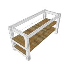 ana white rustic kitchen island built by house food baby diy step 5 instructions