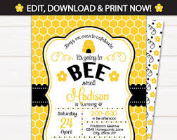 bee day birthday party kit bumble bee themed 1st birthday 2nd