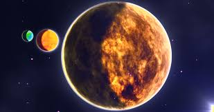 planet earth with moon and sun in space stock footage 1567744