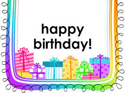 birthday card gifts on white background half fold office