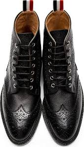 s quarter boots black leather quarter brogue boots 42381m047003 find the best