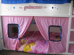 Ikea Pink Curtains Princess Ikea Kura Bed Makeover U2014 Domestic Diva Unleashed