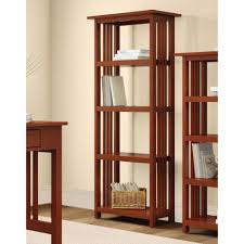 Sauder 3 Shelf Bookcase by Sauder Beginnings Cinnamon Cherry Open Bookcase 409086 The Home