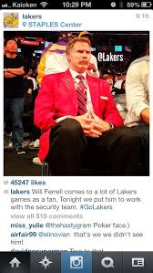 Seeking Will Ferrell Will Ferrell At Tonites Laker Lakers