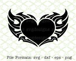 tribal heart svg dxf eps u0026 png digital cut files for cricut