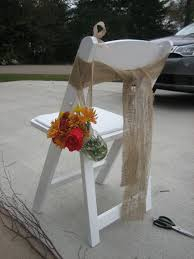 diy chair sashes burlap chair sashes weddingbee