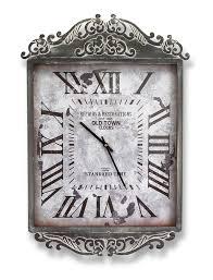 scroll top wall clock