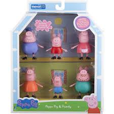 peppa pig family figures 6 pack walmart
