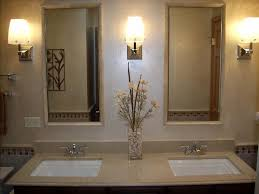 Bathroom Vanities Mirrors Vanity Wall Mirror With Three Lights Of Bathroom Vanities