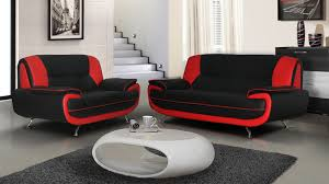 Red And Black Sofa by Palermo 2 3 Seater Black And Red Partick Beds