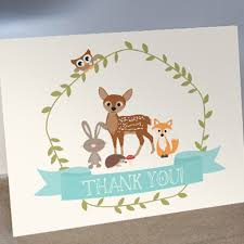 baby shower thank you cards woodland baby shower thank you cards