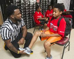 cheap kids lockers foot locker and kyrie irving donate kicks to boys clubs of