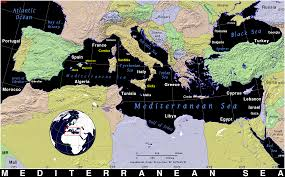 Map Of Mediterranean Sea Mediterranean Sea Public Domain Maps By Pat The Free Open