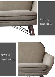 Single Couch Mordern Style Living Room Furniture Comfortable Fabric Sofa Wooden