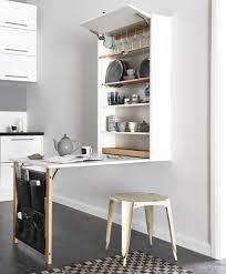 cuisine tout en un la table de cuisine pliante 50 idées pour sauver d espace