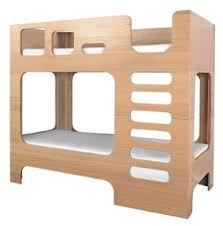 Plywood Bunk Bed Mod Bunk Bed With Rounded Corner Openings And Plywood Sides Home