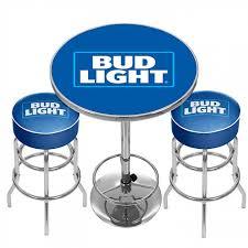 bud light bar light bud light pub combo bar stools table officially licensed bud
