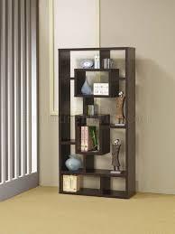 cappuccino finish modern bookcase w shelves u0026 display space