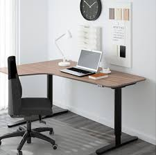 Left Corner Desk Bekant Corner Desk Left Sit Stand Gray Office Redo Pinterest