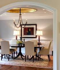 dining room ch andelier with half moon side table dining room