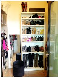Shoe Home Decor by Shoe Racks For Closets Make A Giant Shoe Case Paint Some Color