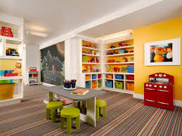 Kids Playroom Rugs by Interior Decoration Colorful Kids Playroom With Small Grey Table
