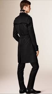 burberry the kensington long heritage trench coat in black for