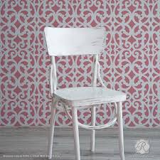 Modern Trellis Wallpaper Large Exotic Trellis Wall Stencils For Diy Painting Royal Design