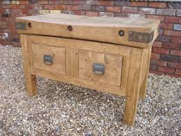 antique butcher block kitchen island antique butchers chopping block with 2 drawers