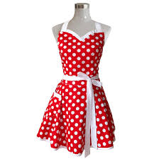 Pink Retro Kitchen Collection Amazon Com Lovely Sweetheart Red Retro Kitchen Aprons Woman