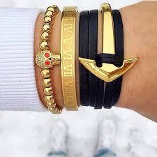 titanium bracelet cuff images 18cm titanium stainless steel bangle roman numerals 24k gold plate jpg