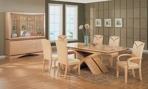 Maple Dining Room Sets Maple Color High Gloss Finish Dining Set