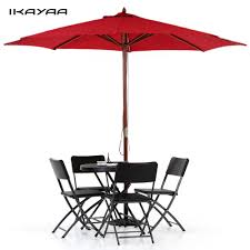 Beach Shade Umbrella Aliexpress Com Buy Ikayaa Fr Stock 3m Wooden Beach Garden Patio