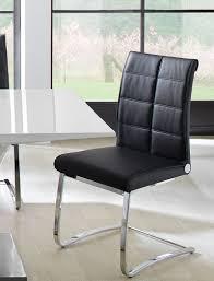 Esszimmersessel Schwarz Schwingstuhl Jasina Schwarz Chrom Freischwinger Stuhl