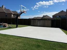backyard basketball court there is mark u0027s concrete slab court in