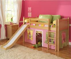 build girls twin loft bed with slide fun ideas girls twin loft