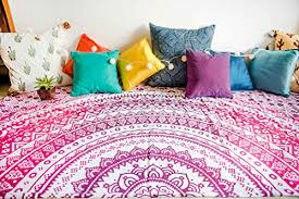bohemian mandala tapestry bedding with pillow covers indian