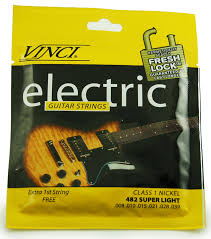 Light Guitar Strings by Vinci 482 Super Light Electric Guitar Strings Keymusic