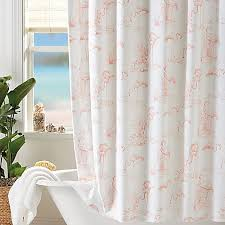 Flamingo Shower Curtains Coastal Living Pink Flamingo Shower Curtain Bed Bath Beyond
